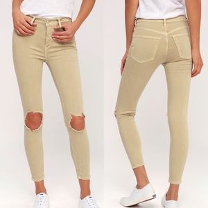 NWT Free People Busted Knee High-rise Skinny Jean